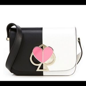 Kate Spade New York two tone small leather bag.
